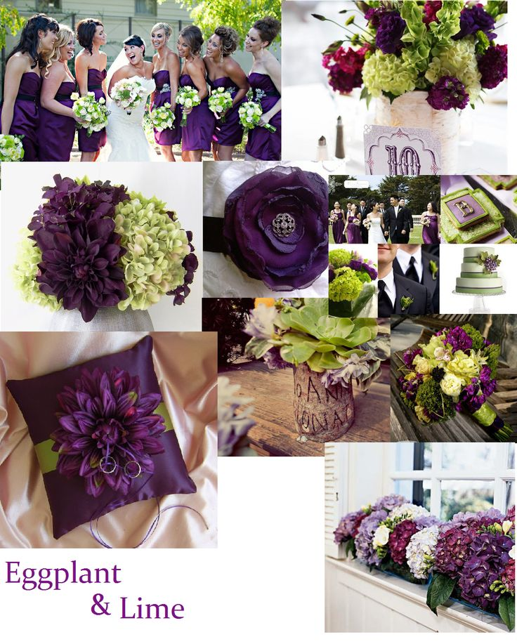 Eggplant Lime Close To My Wedding Colors