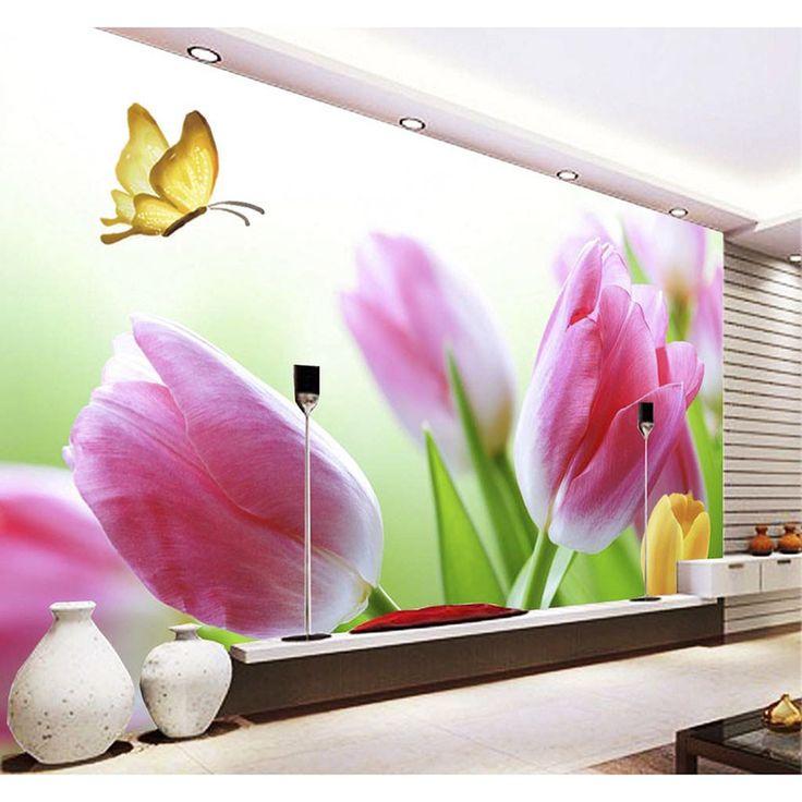 Pas cher 3D Personnalisé Photo DIY Papier Peint Belle Fleurs Papier Peint Peintures Murales 3D Papier Pour Salon TV Fond Home Decor 148, Acheter  Fonds d'écran de qualité directement des fournisseurs de Chine: