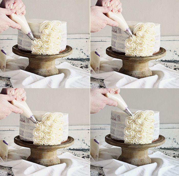 Frilly Cake Decorating: Full tutorial on iambaker.net #frillycake