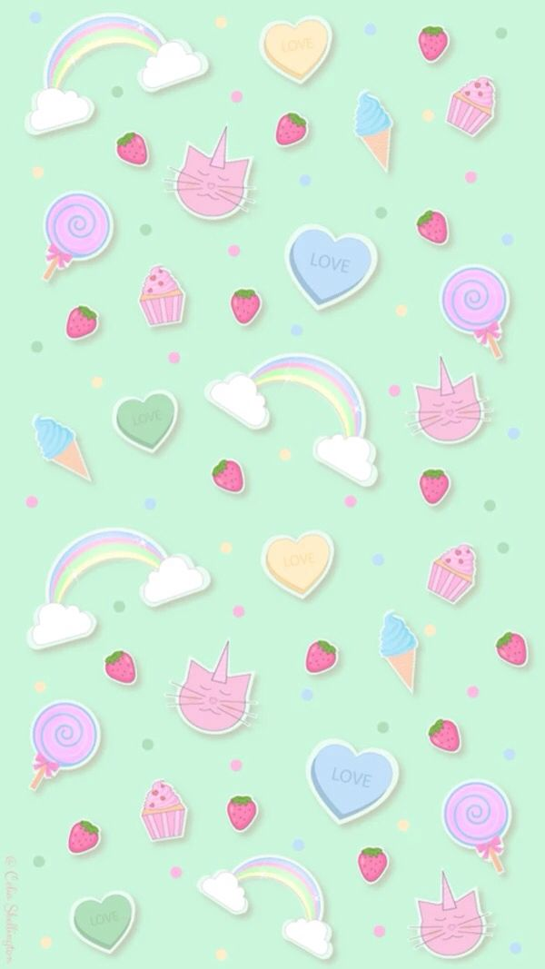 763 best cute wallpaper images on pinterest iphone - Kawaii anime iphone wallpaper ...