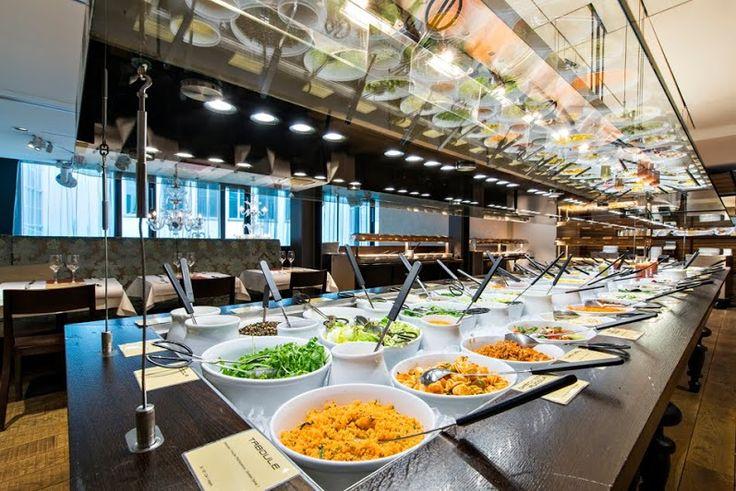 The Hiltl Restaurant Zurich, Vegetarian Restaurant Buffet.
