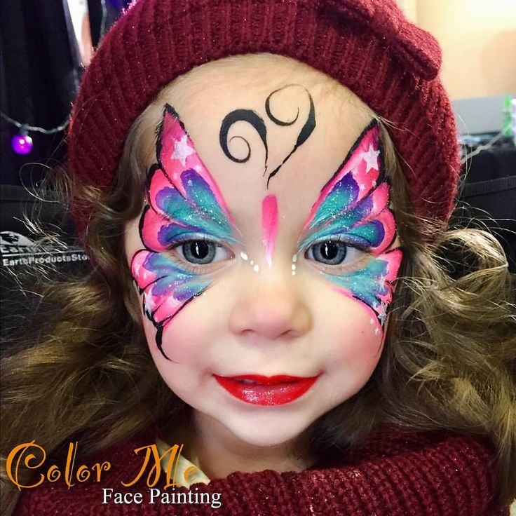 """310 Likes, 15 Comments - Vanessa (@colormefacepainting) on Instagram: """"Another beautiful face at Winter Fest OC @winterfestoc Come get your face painted at The Hangar.…"""""""