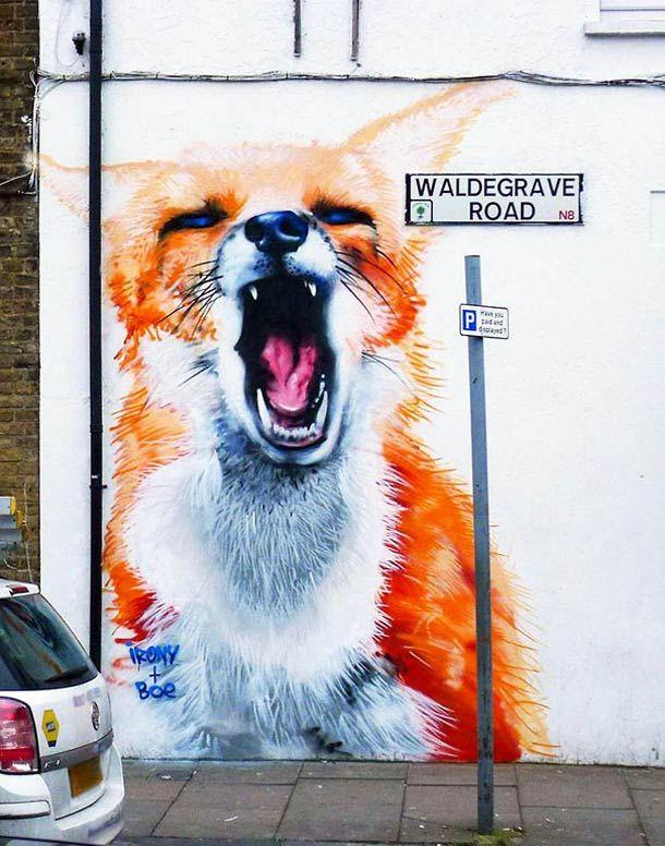 Street Art – Des animaux géants dans les rues de Londres