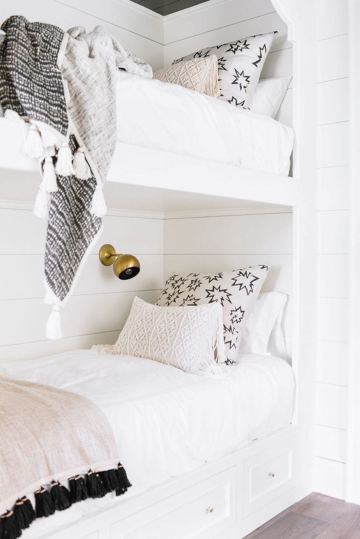 white shiplap built in bunk beds cortney bishop