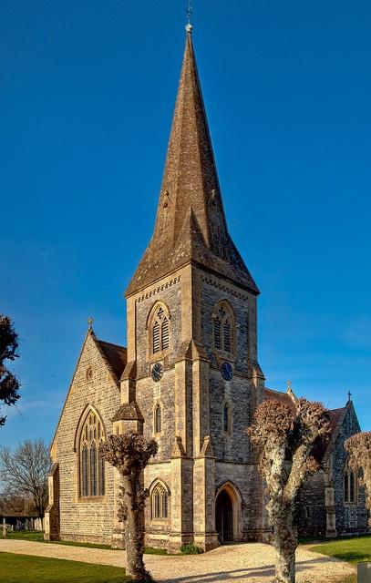 The Church of St. John in Lockerley, Hampshire by Anguskirk, via Flickr