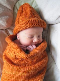 Owlie Sleep Sack by Teresa Cole is offered as a FREE download via Ravelry and sized for newborn/infant with yarn used, Malabrigo Merino worsted 10ply