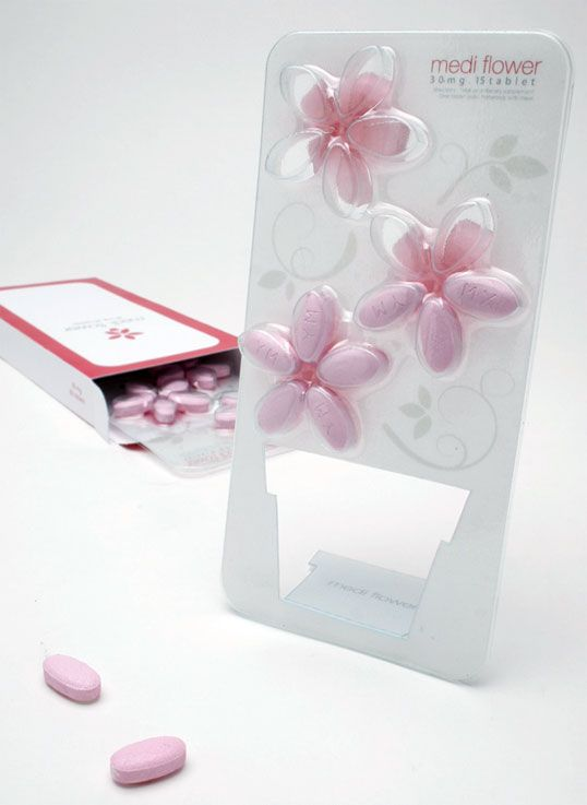 I like the idea of making pill packaging attractive. I'm a little tired of collecting red and orange bottles :)