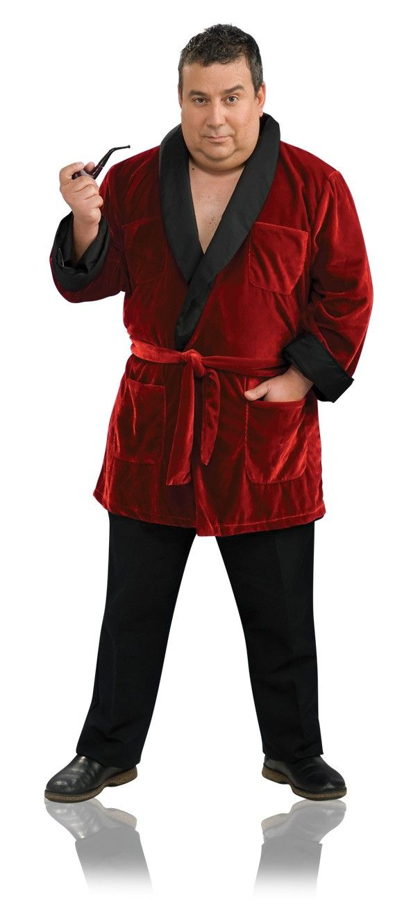 this plus size hugh hefner costume will go perfect with a sexy bunny costume for a great couples costume idea youu0027ll be all set for a mansion party