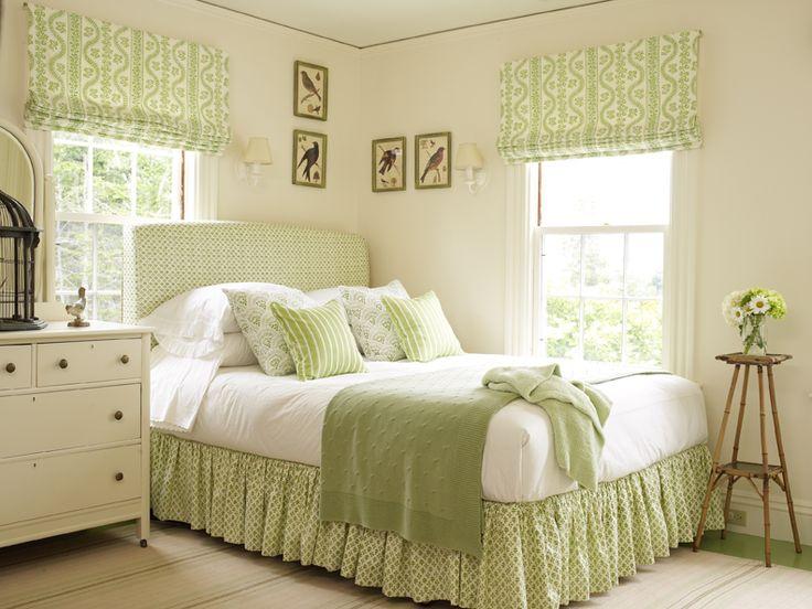 pretty green bedroom