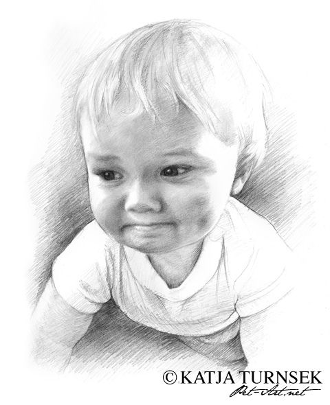 Baby Boy Pencil Drawing | Posted by Katja Turnsek ( 635 ...
