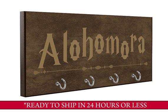 Brown  Alohomora Key Holder  Harry Potter Key door QuickShipGifts