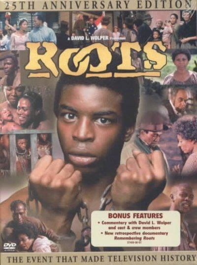 ROOTS was a 1970's TV mini-series by Alex Haley, that followed several generations of an African-American family. Lavar Burton as Kunta Kinta.