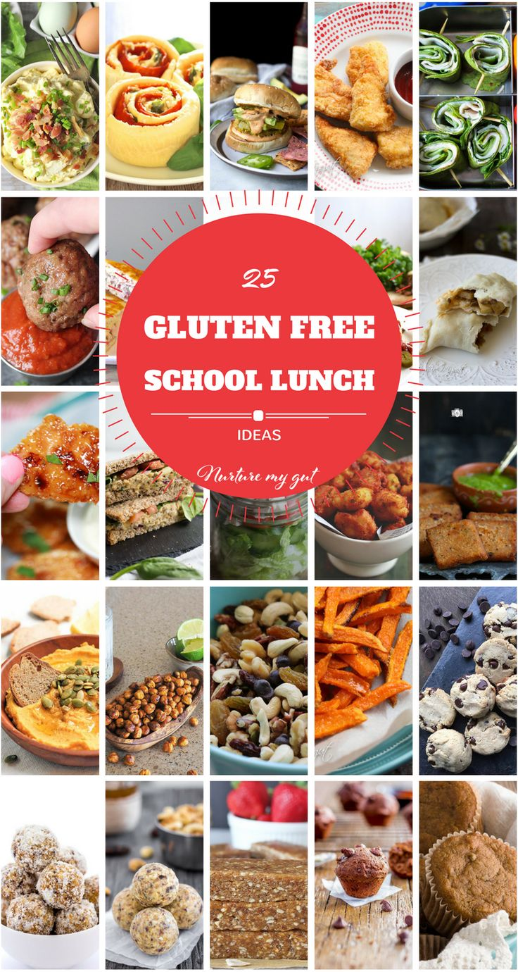 25 Gluten Free School Lunch Ideas-all gluten free with dairy free options. Kid friendly main meals, appetizers and healthy treats! Best gluten free school lunchbox round-up!