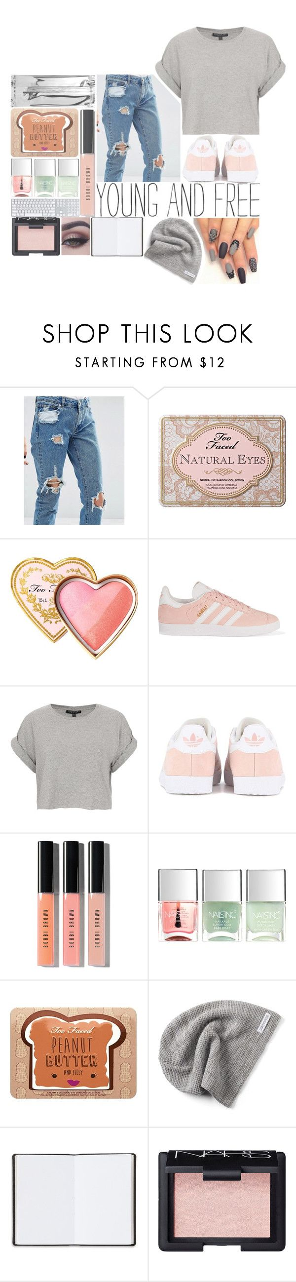 """★ giving back is all I want to do ★"" by aliiiiison ❤ liked on Polyvore featuring ASOS, Too Faced Cosmetics, adidas Originals, Topshop, Bobbi Brown Cosmetics, Nails Inc., Converse, Harrods and NARS Cosmetics"