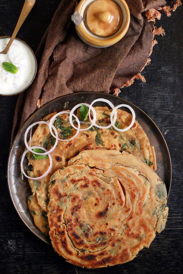 Pudina paratha recipe | Pudina lachha paratha recipe