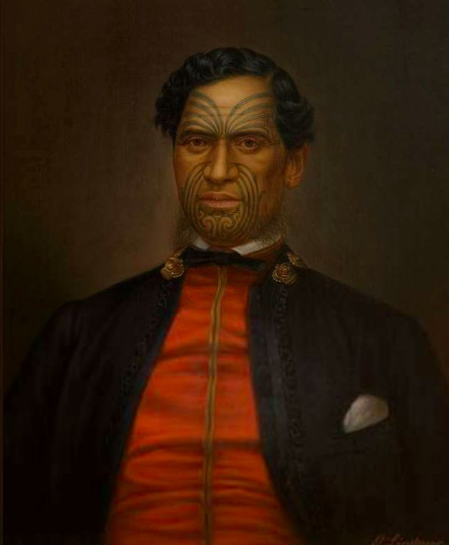Major Waata Kukutai by Gottfried Lindauer (late 1800s) Auckland Art Gallery. Besides his portraits of eminent Māori, he produced many of ordinary Māori people, most of whom wear European dress. Most of these were probably commissioned by the sitters or their families. In contrast, in Lindauer's Māori portraits for European patrons, most of the subjects are shown in traditional & ceremonial Māori costume; markers of exotic difference to European viewers.
