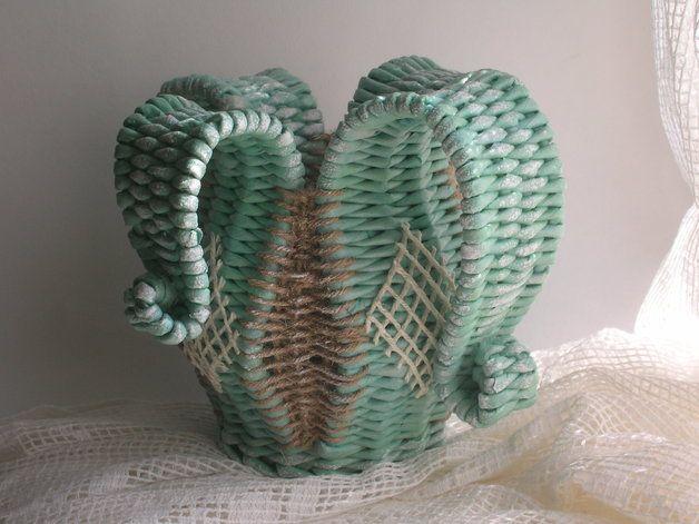 Вазы - Ручная работа необычная плетеная ваза часть 2 - уникальный продукт на Фортуна-Yana на DaWanda