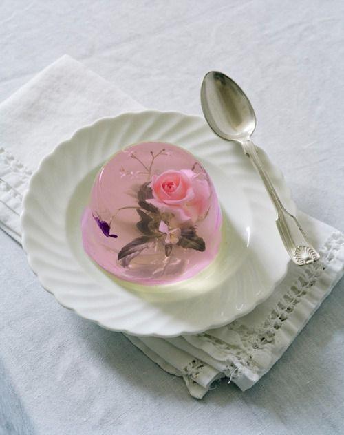 Elegant rose dessert.