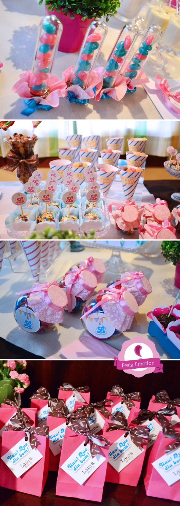 E o joguinho preferido da aniversariante virou tema da festa dos 11 anos da Laura! Essa foi a primeira festa inteira decorada pela Emotion! Agora contamos com mais uma pessoa na equipe: A Débora! A...