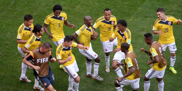 Colombia football players dancing on Copa America 2016