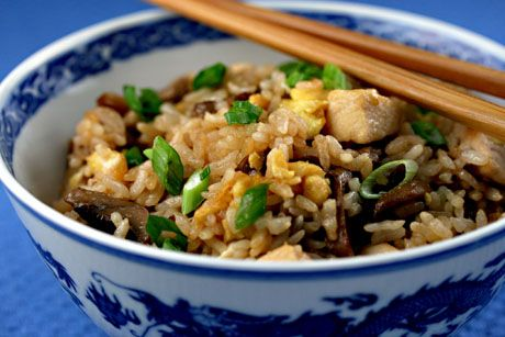 Chicken fried rice - an easy meal to prepare after a long day at work