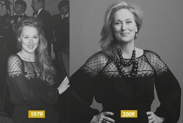 Meryl Streep in 1979 and 2009. Absolutely gorgeous!!!