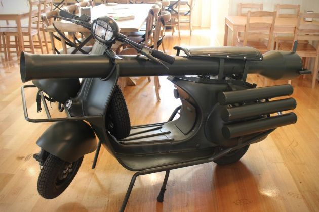 Vespa 150 TAP Scooter With Light Anti-Armor Cannon 0