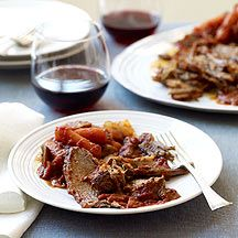 Roasted Brisket (via WW)...a tender and juicy dinner which I prepare in the crock pot.