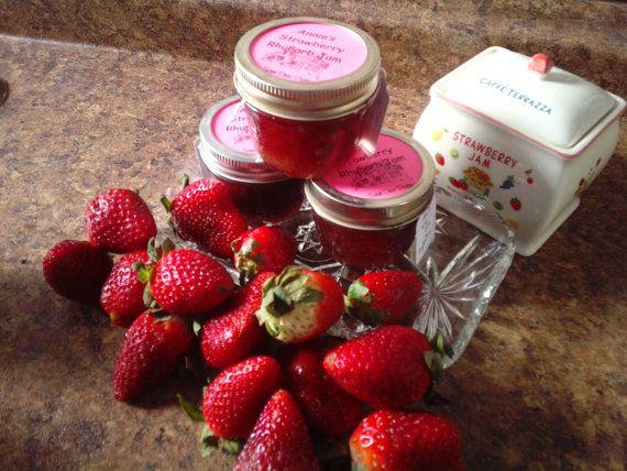 Strawberry Rhubarb Jam by sweetpeaspantry on Etsy, $4.00