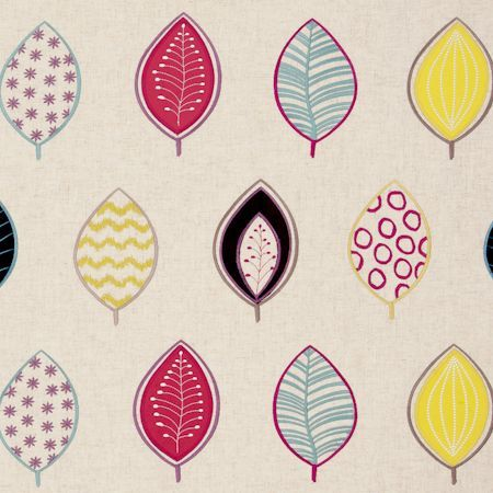 Henrika - Raspberry fabric, from the Gustavo collection by Clarke and Clarke