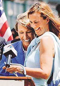 With longtime doubles partner Pam Shriver