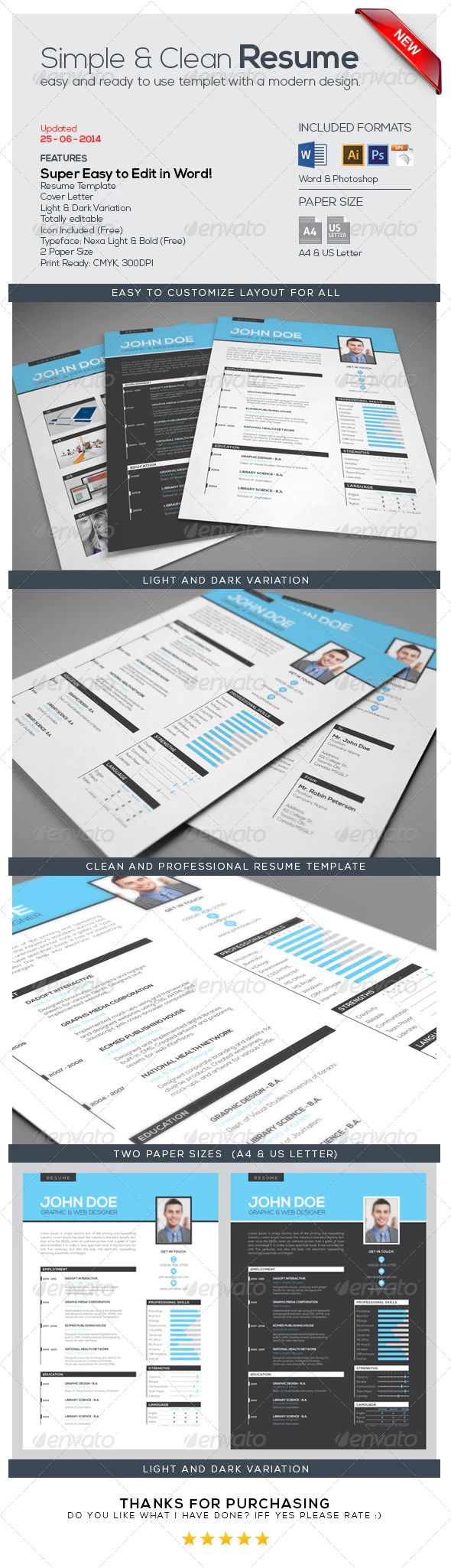 resume template by designstribe super easy to edit  a4