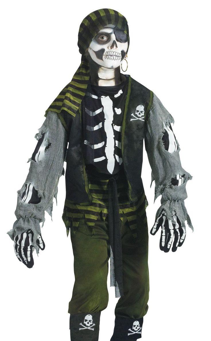 fun world kids boys scary skeleton zombie pirate halloween. Black Bedroom Furniture Sets. Home Design Ideas