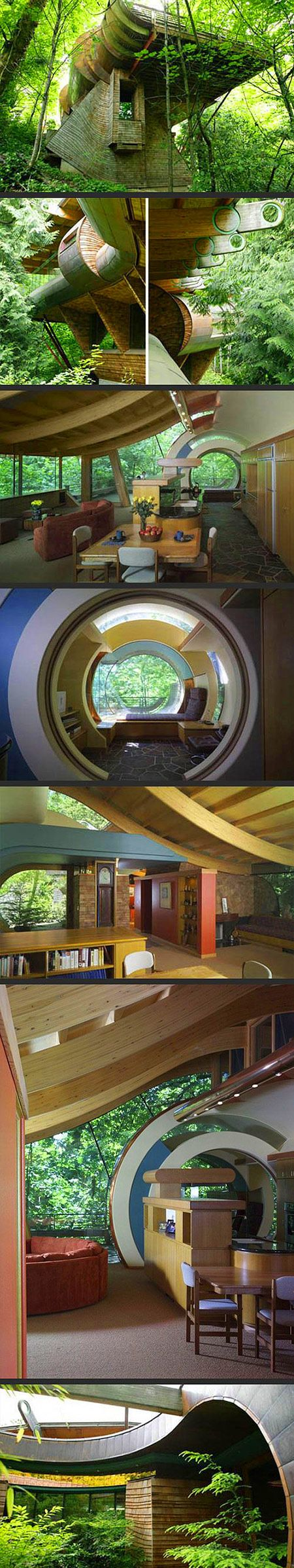 Organic Architect Robert Oshatzu0027s House ( Portland, Oregon ) Could Easily  Live Off The Grid In This Tree House