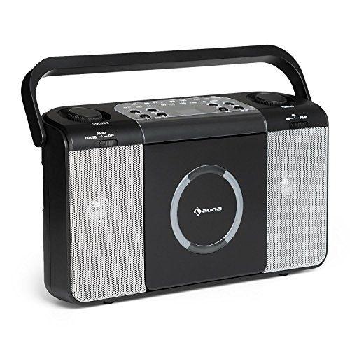 auna Boomtown • CD-radio • chaîne stéréo • poste radio CD • lecteur CD audio normaux, CD-R, CD-RW, et les CD MP3 • port USB • poignée de transport • radio FM • entrée AUX jack 3,5 mm • puissance 2 x 1,5 watts RMS • par alimentation ou piles • noir #auna #Boomtown #radio #chaîne #stéréo #poste #lecteur #audio #normaux, #port #poignée #transport #entrée #jack #puissance #watts #alimentation #piles #noir