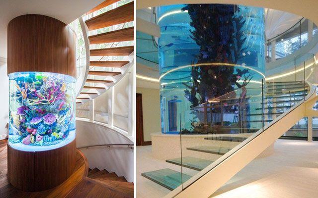 Ideas para decorar con acuarios modernos