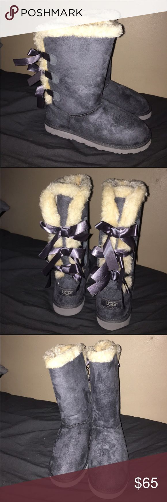 Gray Faux Fur UGGS, brand new! Beautiful, brand new UGGS never worn! These are beautiful and I'm only selling because there are too snug on me. I ordered them off Poshmark and was told they were authentic, but I do not think they are. They are beautiful though and i wouldn't have known. I'm bummed they don't fit me because they are so beautiful and go with so many things! UGG Shoes Winter & Rain Boots