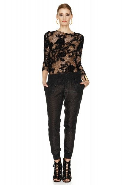 Black Lace Top by PNK casual  #lace #top #pnkcasual #cool #fashion #black