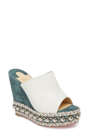 3011b21d278 Christian Louboutin Janibasse Embellished Wedge Mule at Nordstrom ...