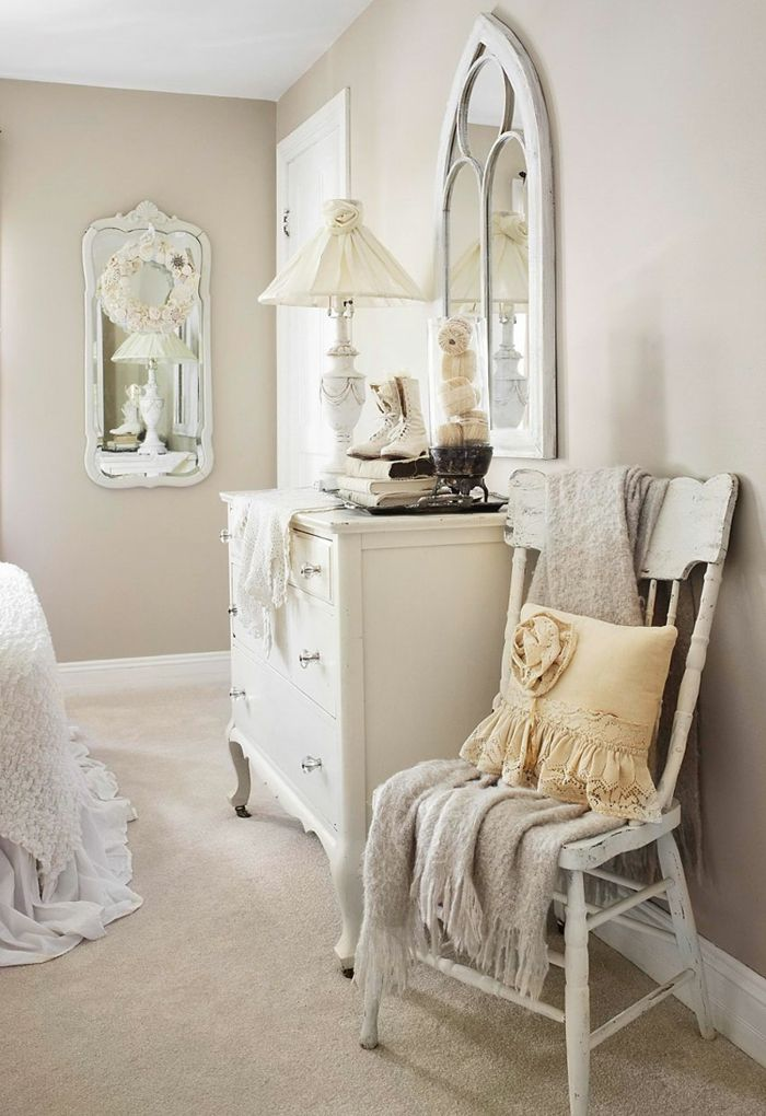 die 25 besten ideen zu shabby chic schlafzimmer auf. Black Bedroom Furniture Sets. Home Design Ideas
