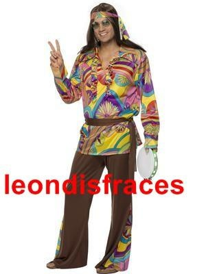 Disfraz de Hippy adulto. 70's costume