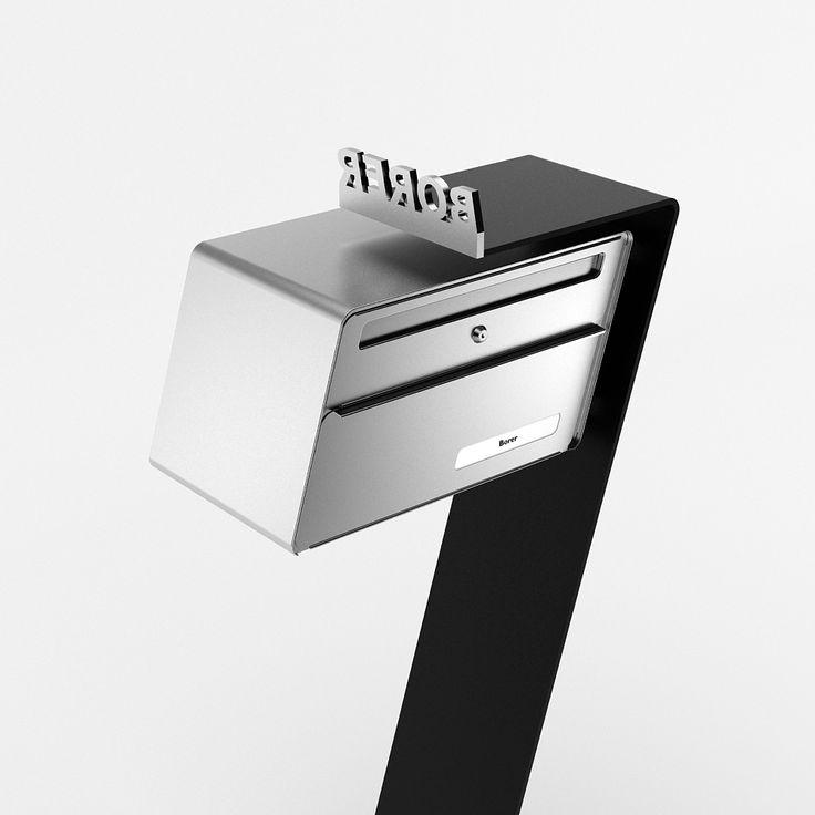 """Mailbox """"Very Wonky""""  Design by Carlo Borer www.designbriefkasten.ch"""