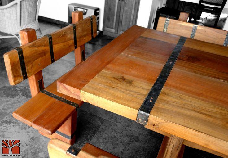 17 best images about bancas maderos linewood con respaldo - Clavos de cobre ...