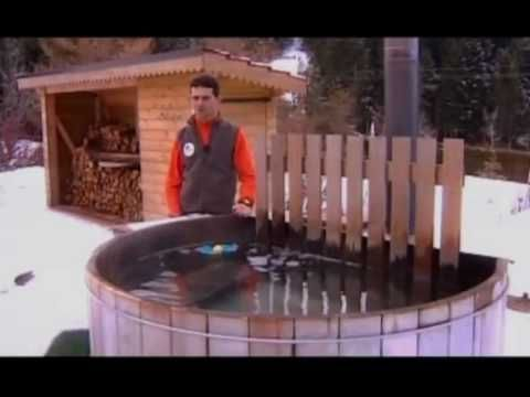 Scandinavian hot tub and Russian banya