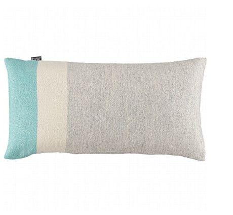 Twig Bolster Cushion Grey/Turquoise - Trouva