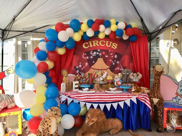 Circus Carnival Backdrop For Sale In Fontana Ca Circus Birthday Party Theme Circus Birthday Party Decorations Circus Birthday Party