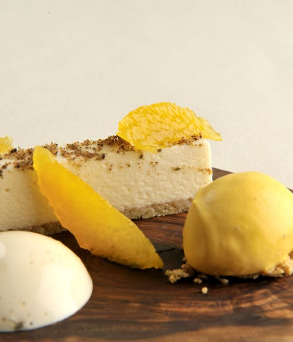 This white chocolate mousse recipe is paired with a tangy citrus sorbet and cardamom espuma, making a beautifully balanced dish that is at once creamy, sweet, spiced and sharp. - James Sommerin