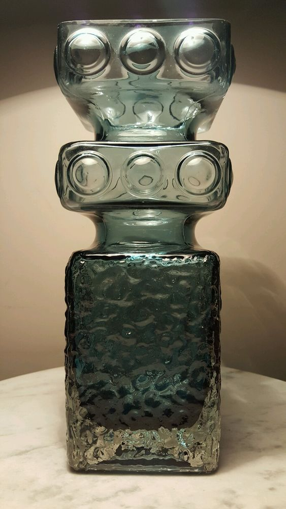 Huge Scandinavian Mid Century Riihimaen Tamara Aladin Kehra 1496 Art Glass Vase