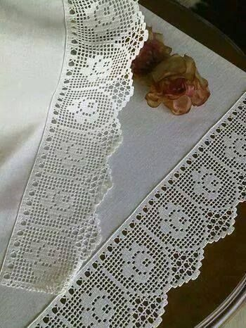 Lovely crocheted lace edging
