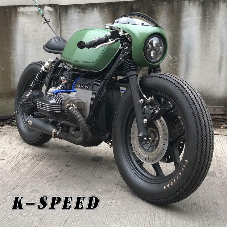 BMW R80 cafe racer by k-speed .... Sehr genial, vor allem die Verkleidung des Scheinwerfers